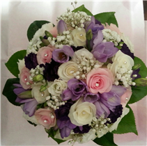 lilac, pink and ivory bridal/bridesmaids posy