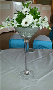 posy style martini glass displays