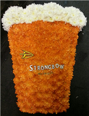 pint glass strongbow cider