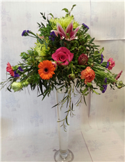 vibrant table centres