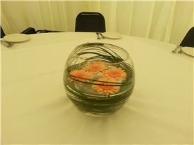 gemini gold fish bowl centre pieces