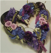 mauve combination open modern heart