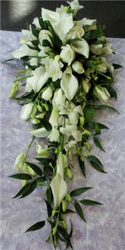 long calla lily and rose shower