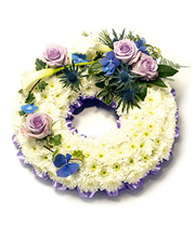 Based Lilac & White Wreath