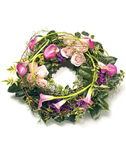 Contemporary Wreath With Cala Lily