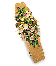Contemporary Casket Spray