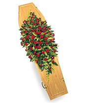 Casket Spray All Red Roses