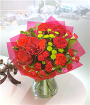 All Red Festive Bag Bouquet