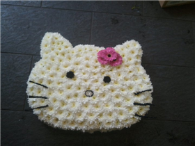Hello Kitty funeral piece