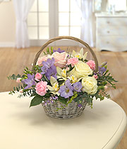 lilac/pink and cream spring basket