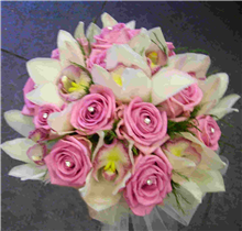 Brides Orchid & Rose Hand-tied