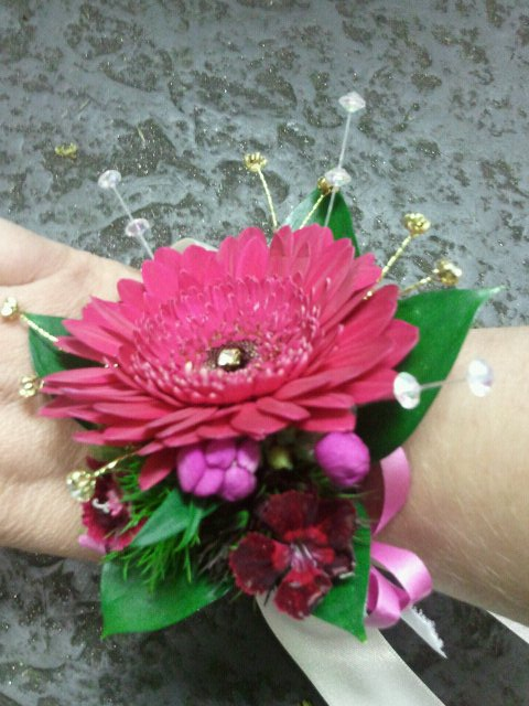 Eileen Jenkins Gerbera And Diamante Wristlet